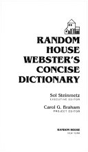 Random House Webster s Concise Dictionary