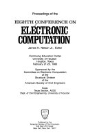 Proceedings of the Eighth Conference on Electronic Computation