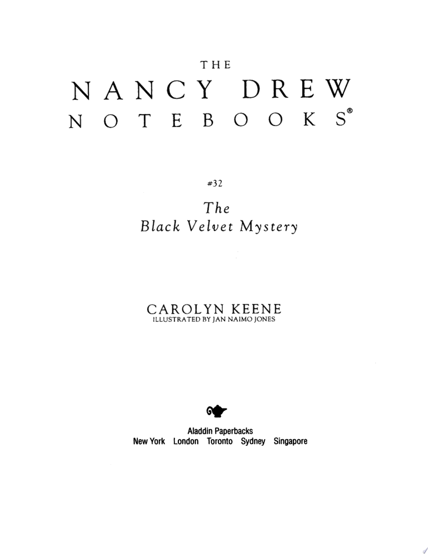 The Black Velvet Mystery