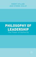 Philosophy of Leadership Book
