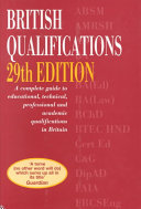 British Qualifications Book