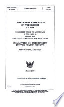 Concurrent Resolution on the Budget FY 2008