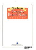 Best Loved Favorite Brand Name Recipes