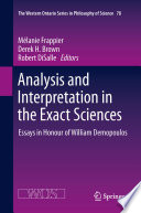 Analysis and Interpretation in the Exact Sciences Book