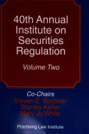 Annual Institute on Securities Regulation