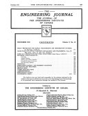 The Journal Of The Engineering Institute Of Canada