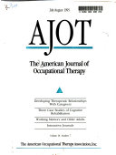 The American Journal of Occupational Therapy