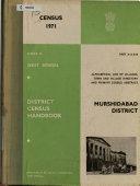District Census Handbook  Series 22  West Bengal  Murshidabad  2 v