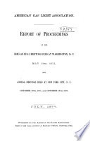 Proceedings Of The American Gas Light Association
