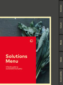 Pdf Solutions Menu - A Nordic guide to sustainable food policy