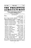 The Philippine Agriculturist