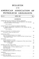 Bulletin of the American Association of Petroleum Geologists Book