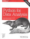 Cover of Python for Data Analysis