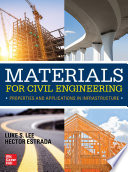 Materials for Civil Engineering  Properties and Applications in Infrastructure