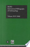 International Bibliography Of Anthropology