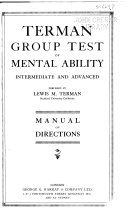 Terman Group Test of Mental Ability  intermediate and Advanced