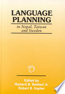 Language Planning in Nepal, Taiwan, and Sweden