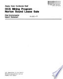 OCS (Outer Continental Shelf) Mining Program, Norton Sound Lease Sale, Proposed