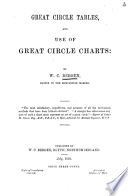 Great Circle Tables  and Use of Great Circle Charts