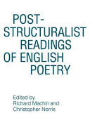 Pdf Post-structuralist Readings of English Poetry