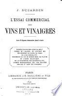 L'essai commercial des vins et vinaigres