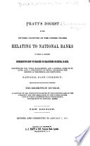 Pratt s Digest of the Revised Statutes of the United States Relating to National Banks