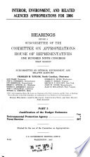 Interior, Environment, and Related Agencies Appropriations For 2006, Part 3, 109-1 Hearings, *