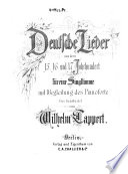 Deutsche Lieder aus dem 15., 16. und 17. Jahrhundert
