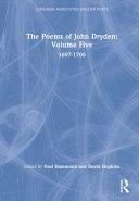 The Poems of John Dryden: 1697-1700