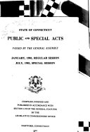 Public And Special Acts Passed By The General Assembly