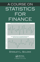 Pdf A Course on Statistics for Finance Telecharger