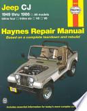 Jeep CJ 1949 thru 1986  : All models