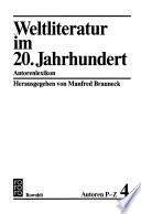 Weltliteratur im 20. Jahrhundert: Autoren P-Z