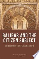 Balibar and the Citizen Subject Book