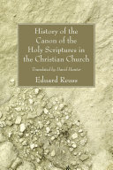 Pdf History of the Canon of the Holy Scriptures in the Christian Church Telecharger