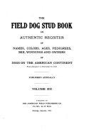 The Field Dog Stud Book
