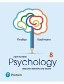 Cover of How to Write Psychology Research Reports and Essays