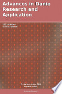 Advances In Danio Research And Application 2012 Edition Book PDF