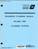Readiness Planning Manual  Planning system