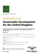 Indicators of Sustainable Development for the United Kingdom