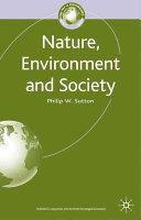 Nature  Environment and Society