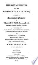 Literary Anecdotes of the Eighteenth Century;