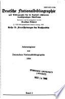Deutsche Nationalbibliographie und Bibliographie des im Ausland erschienenen deutschsprachigen Schriftums