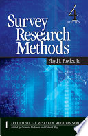 """""""Survey Research Methods"""" by Floyd J. Fowler"""