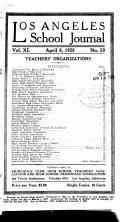 Los Angeles School Journal Book