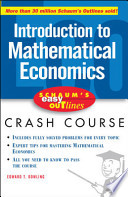 Schaum's Easy Outline of Introduction to Mathematical Economics
