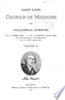 St  Louis Courier of Medicine and Collateral Sciences Book