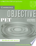 Objective: PET Workbook with answers