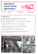 Journal of South Pacific Agriculture
