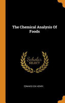 The Chemical Analysis of Foods